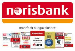 norisbank Top-Girokonto Auszeichnungen